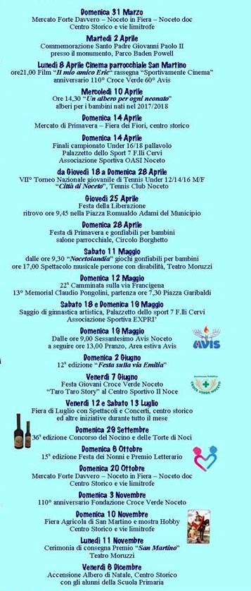 Eventi a Noceto dal 31 marzo all'8 dicembre