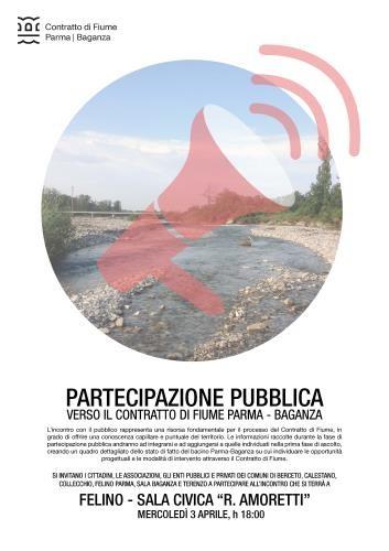 Contratto di Fiume Parma Baganza: incontro pubblico a Felino