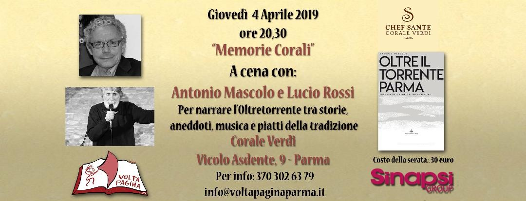A cena con Antonio Mascolo e Lucio Rossi alla Corale Verdi