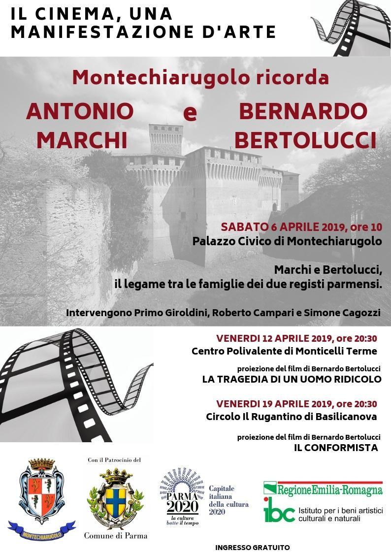 Montechiarugolo ricorda Marchi-Bertolucci: proiezione dei film