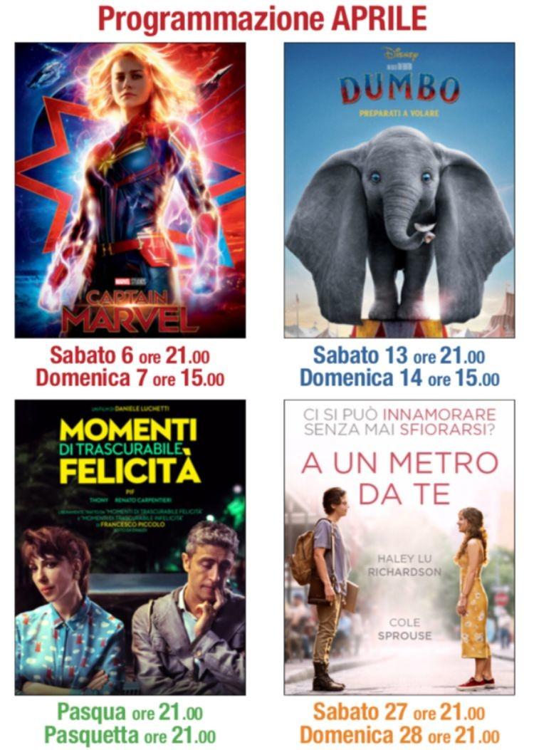 La programmazione di aprile  2019 al Cinema Lux