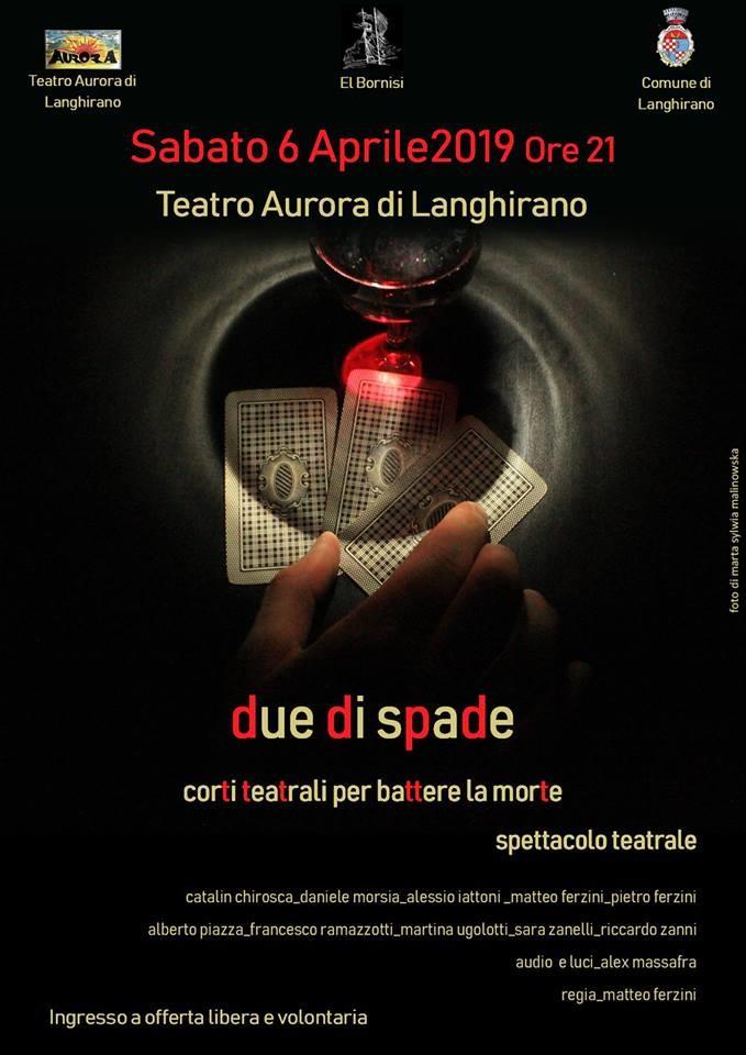 """""""Due di spade""""  a cura del gruppo """"El Bornisi""""  al Teatro Aurora di Langhirano"""