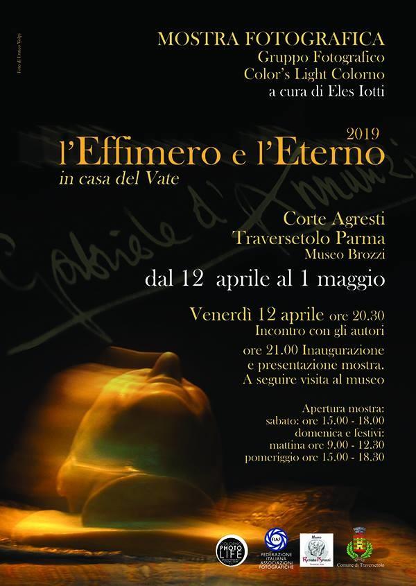Inaugurazione e finissage della mostra L'EFFIMERO E L'ETERNO in casa del Vate.