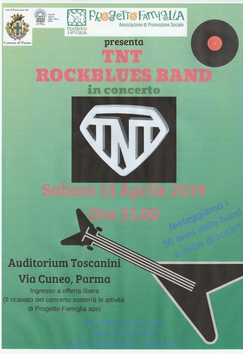 Concerto del gruppo rock TNT, 50 anni di musica insieme