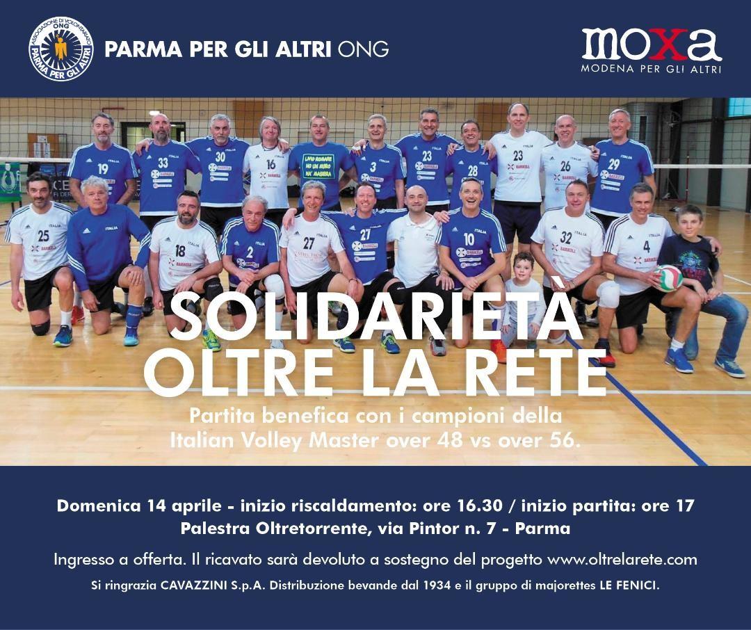 """PARMA PER GLI ALTRI PRESENTA """"I campioni dell'Italian Volley Master, over 48 vs over 56"""""""