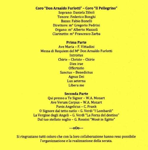 """Concerto con la corale """"Il Pellegrino"""""""