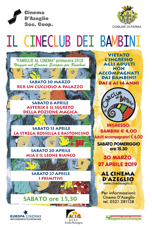Il Cineclub dei bambini al cinema D'Azeglio: programma di aprile