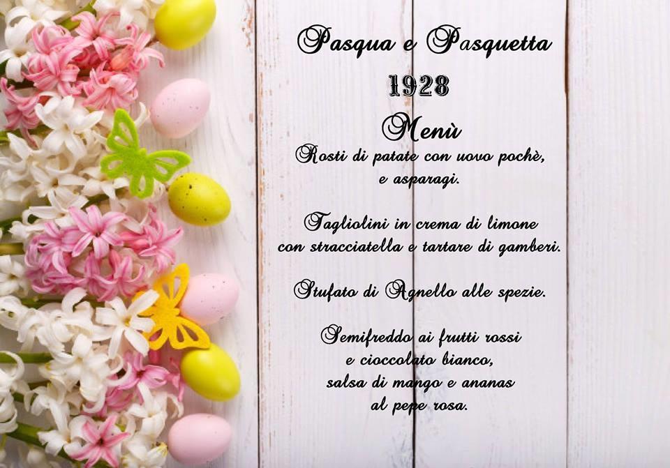 Natale con i tuoi, Pasqua e Pasquetta da Noi. al Pub Gourmet 19.28 Ristorante