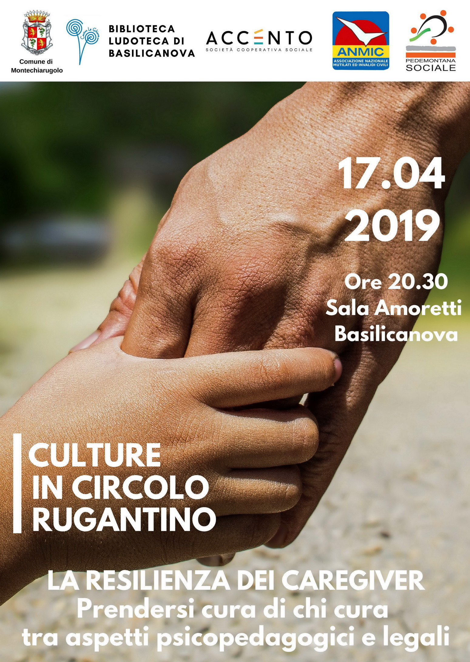 """Incontro """"La Resilienza dei caregiver"""", a Basilicanova"""