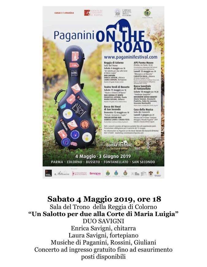 Concerto Paganini ON THE ROAD alla Reggia di Colorno