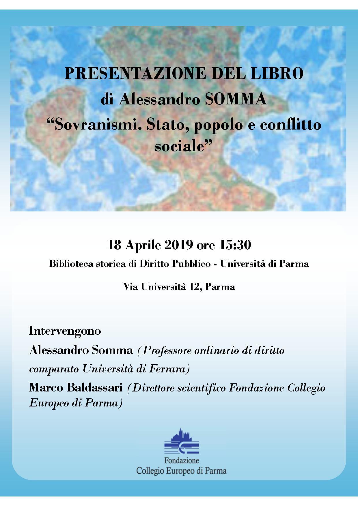 """Presentazione del libro """"Sovranismi. Stato, popolo e conflitto sociale"""""""