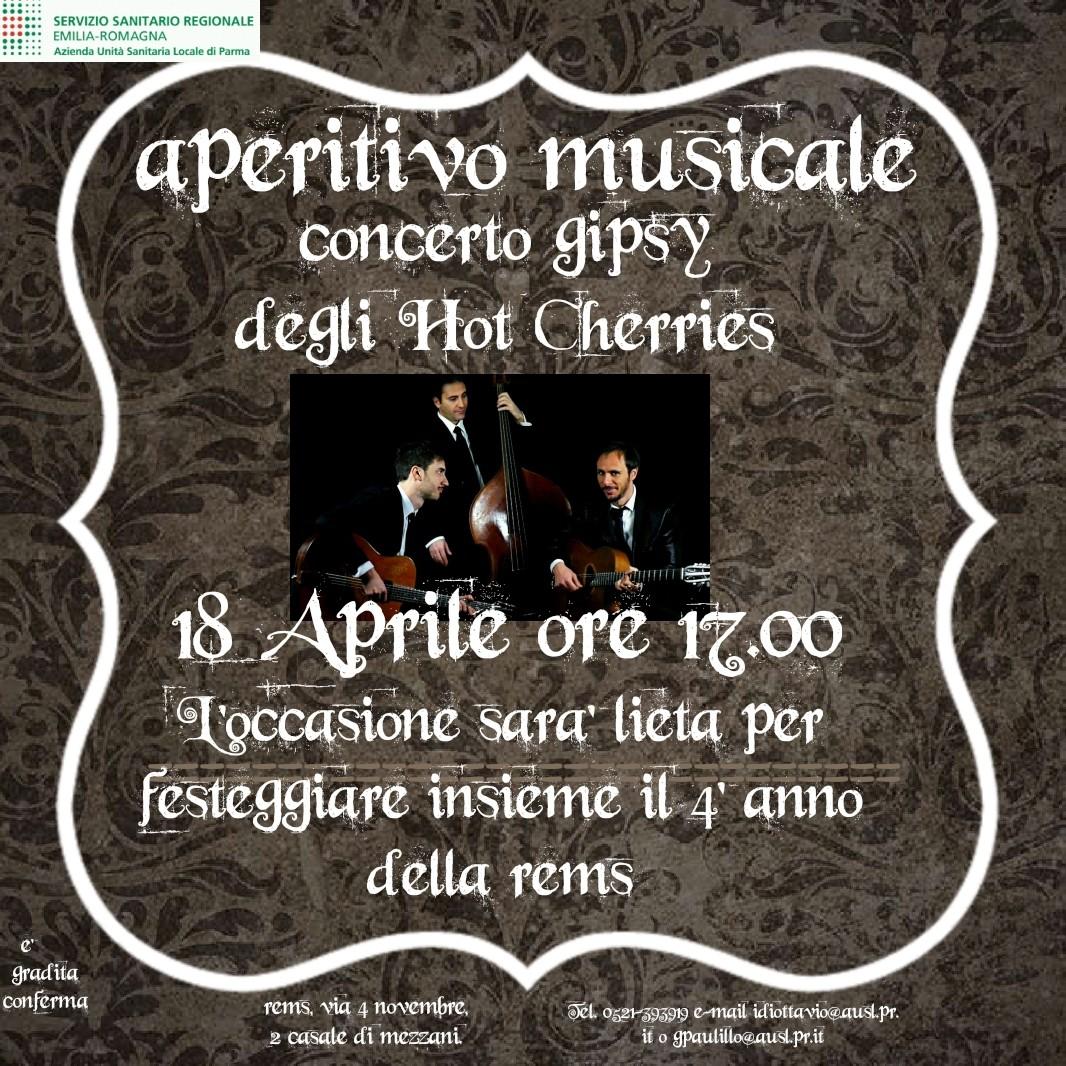 Quarto compleanno per la REMS di Mezzani  con concerto gipsy degli Hot Cherries