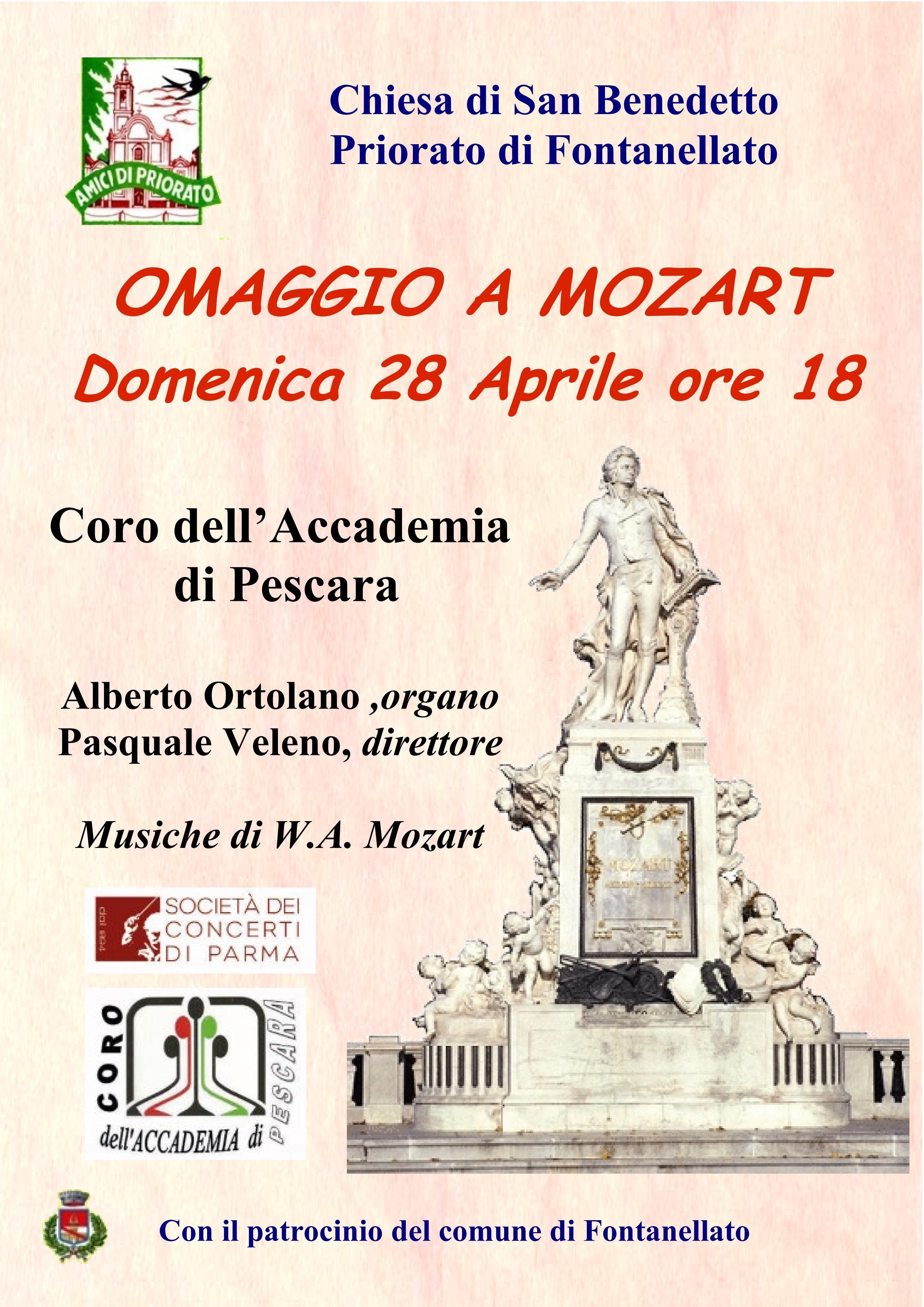 Omaggio a Mozart concerto del Coro dell'accademia di Pescara a Priorato