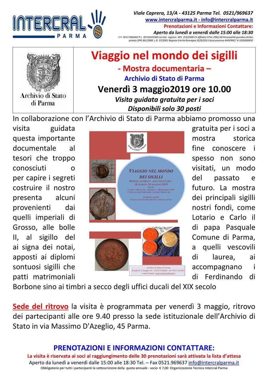 Viaggio nel mondo dei sigilli  all'Archivio di Stato di Parma