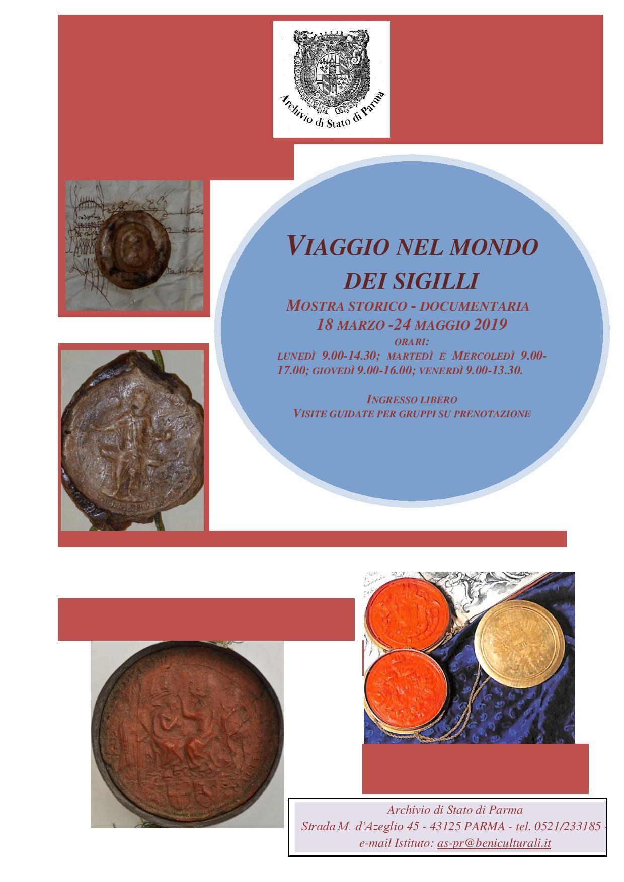 Viaggio nel mondo dei sigilli  all'Archivio di Stato di Parma, mostra documentaria