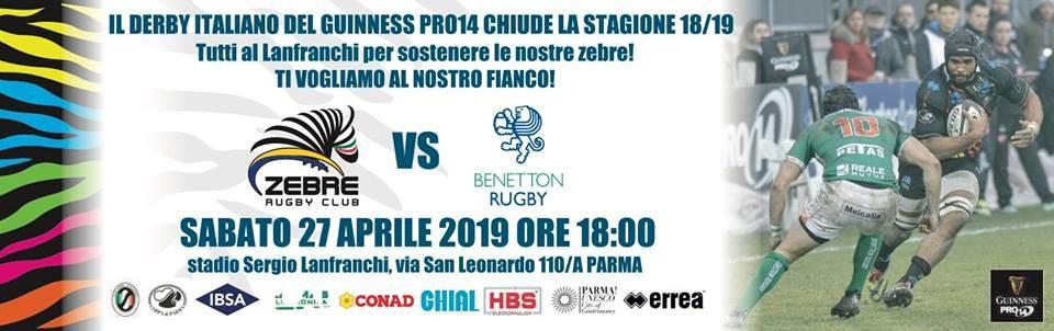 Guinness PRO14 2018/19 Rd 21: Zebre Rugby vs Benetton