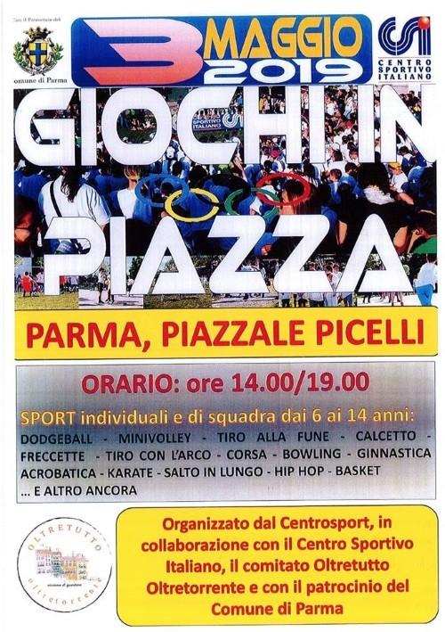 GIOCHI IN PIAZZA in Piazzale Picelli
