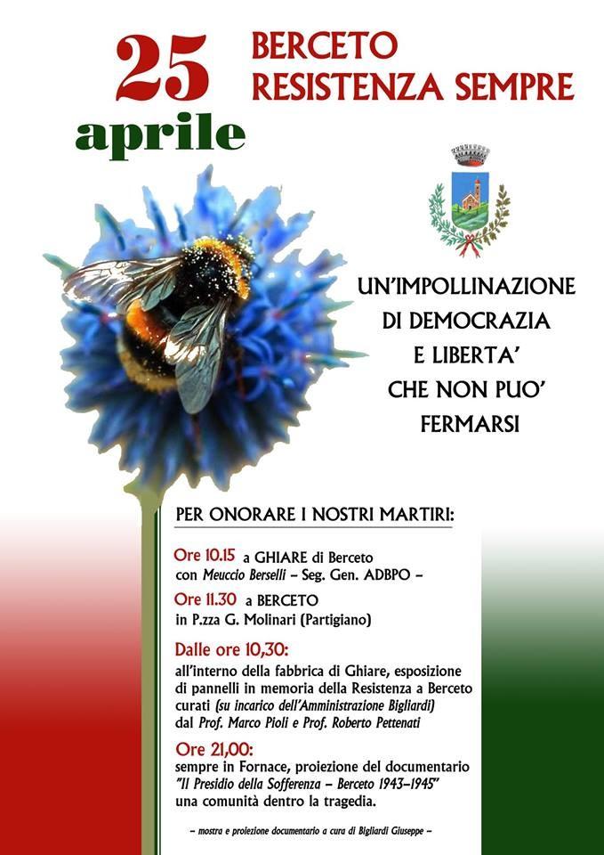 GIOVEDI' 25 APRILE 2019 - BERCETO RESISTENZA SEMPRE