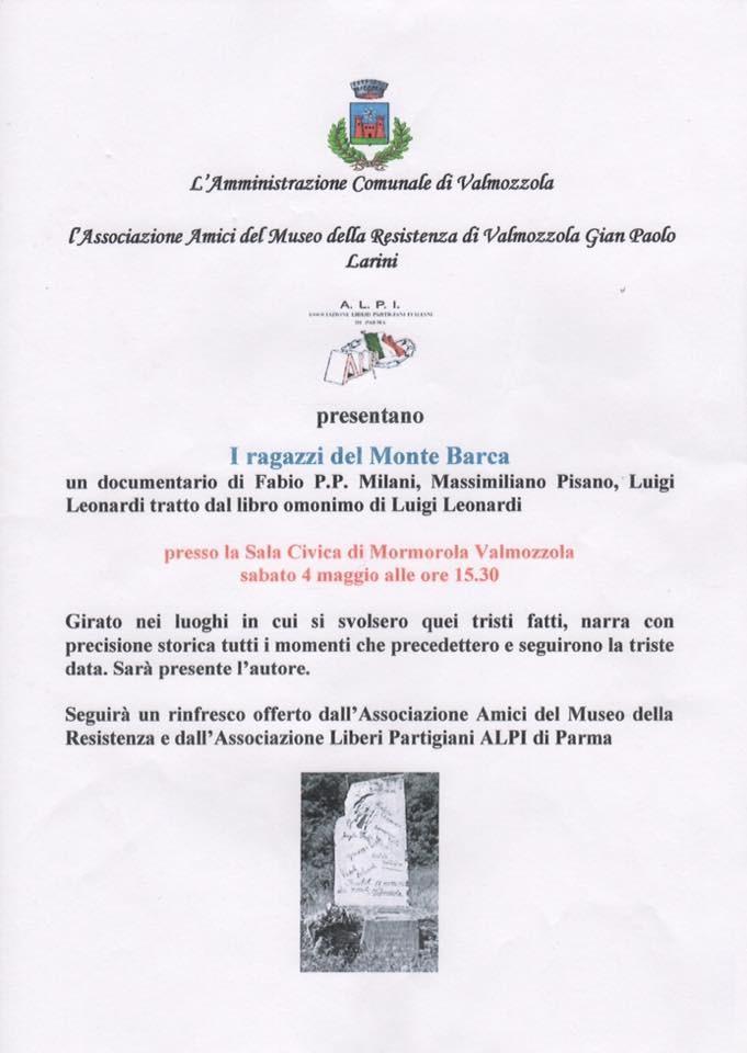"""""""I ragazzi del Monte Barca"""", documentario"""