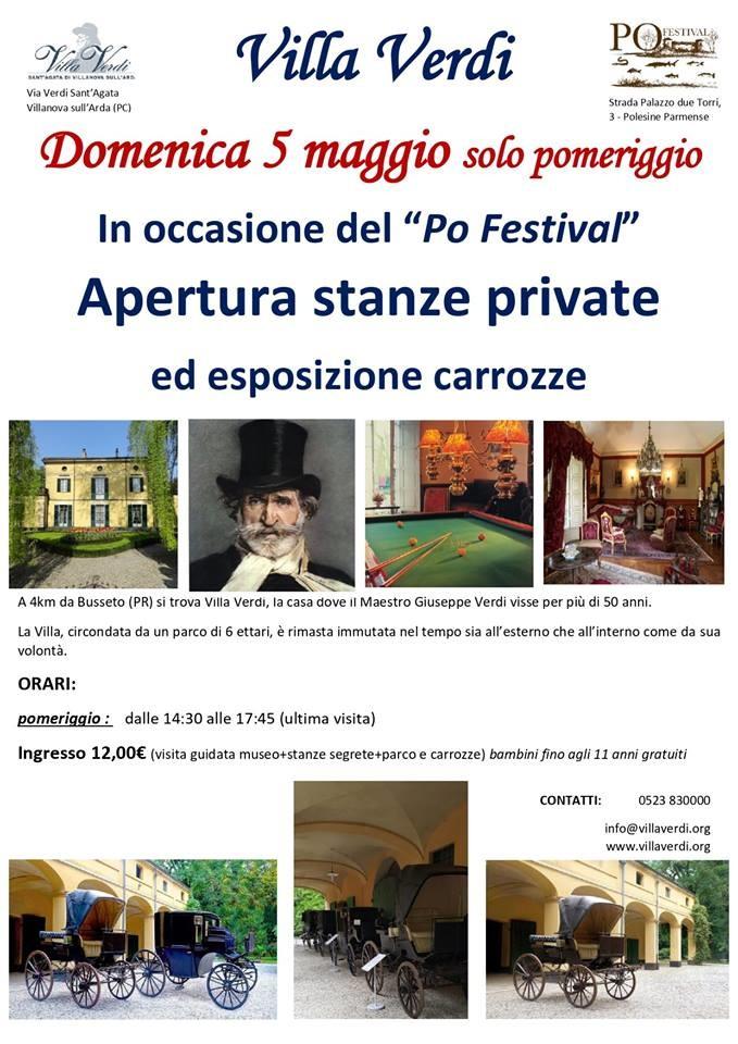 A Villa Giuseppe Verdi apertura delle stanze private