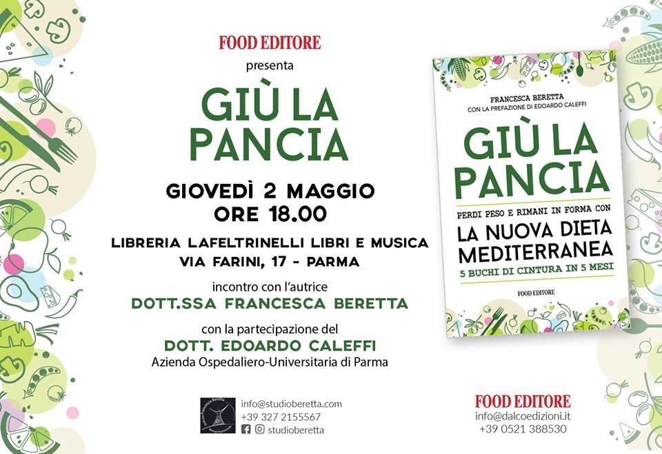 """Presentazione libro """"Giù la Pancia"""" di Francesca Beretta"""