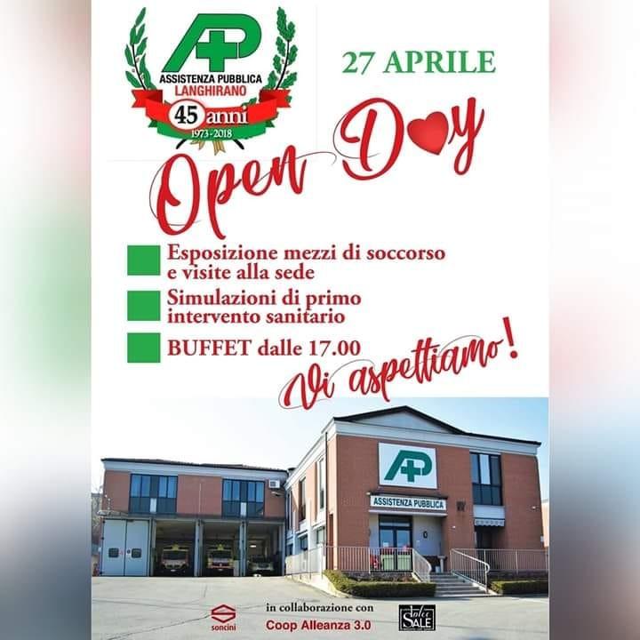 Open day della Pubblica assistenza di Langhirano