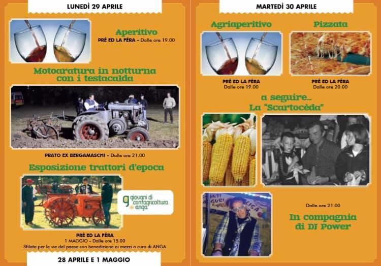FIERA AGRICOLA DELLA VALCENO 2019: programma del 29 e 30 aprile