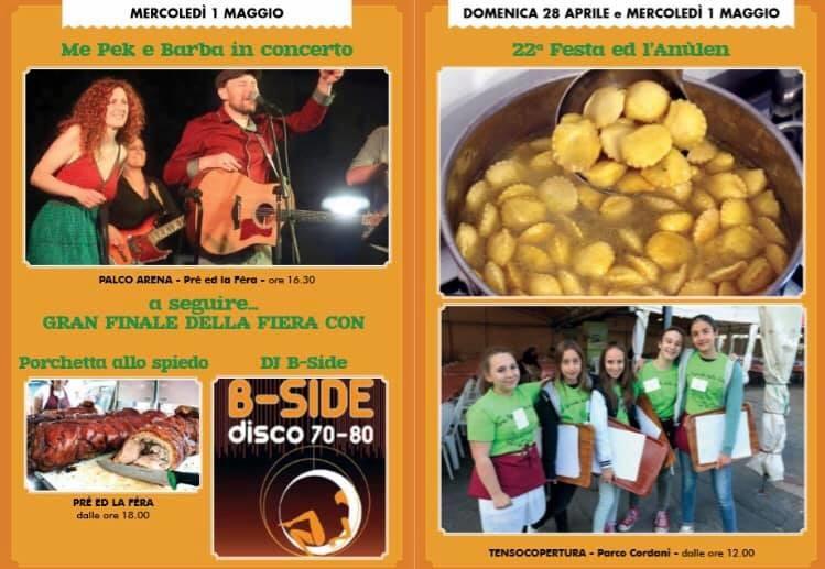 FIERA AGRICOLA DELLA VALCENO 2019: programma del 1 maggio