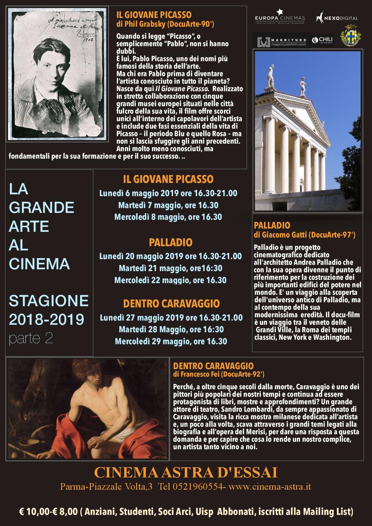 La grande arte al Cinema Astra Parma