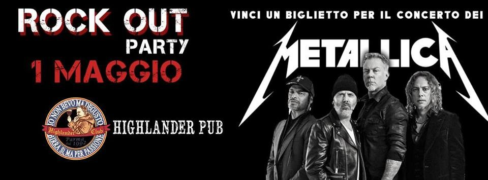 Enter Pub - Rock Out Party - Vinci il biglietto! al pub Highlander