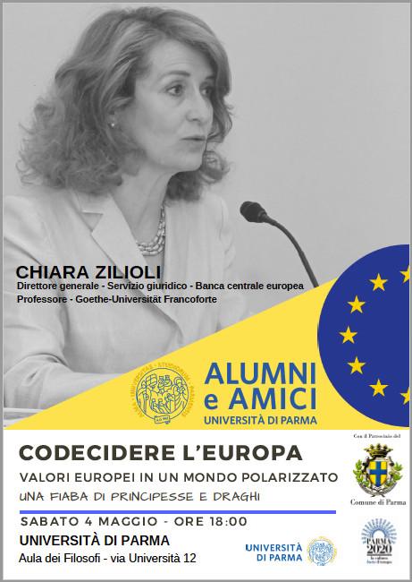 """""""CODECIDERE L'EUROPA"""", INCONTRO CON CHIARA ZILIOLI,"""