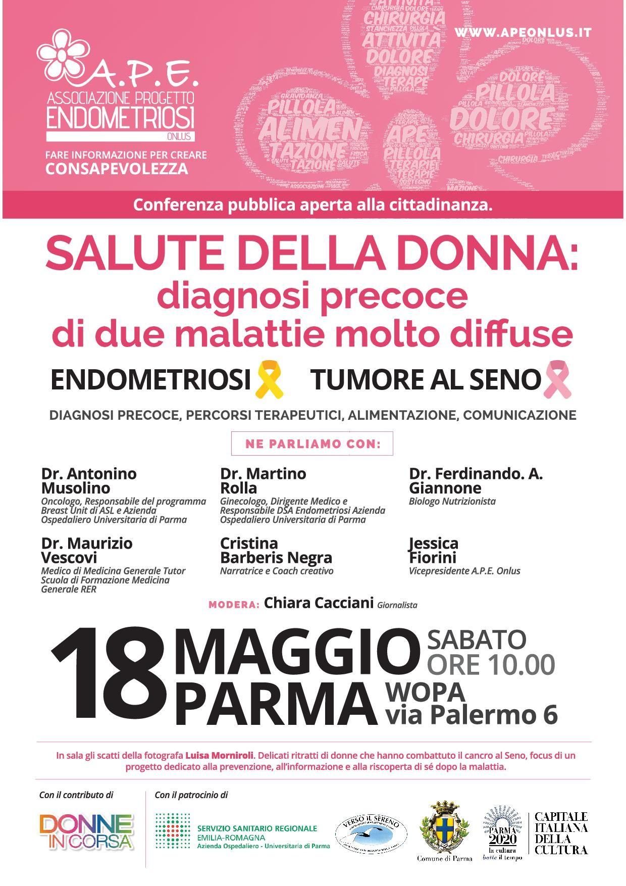 Endometriosi e Tumore al Seno, se ne parla a Parma