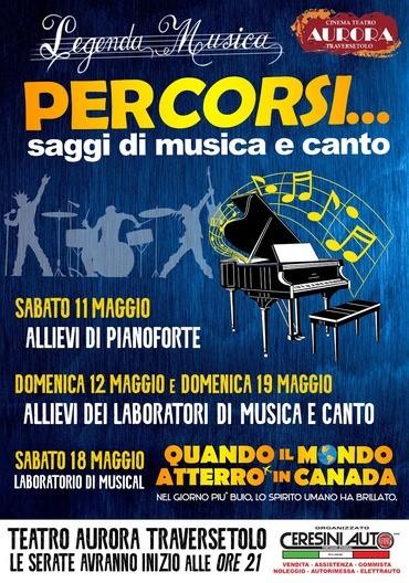 Saggi di Pianoforte al Teatro Aurora di Traversetolo