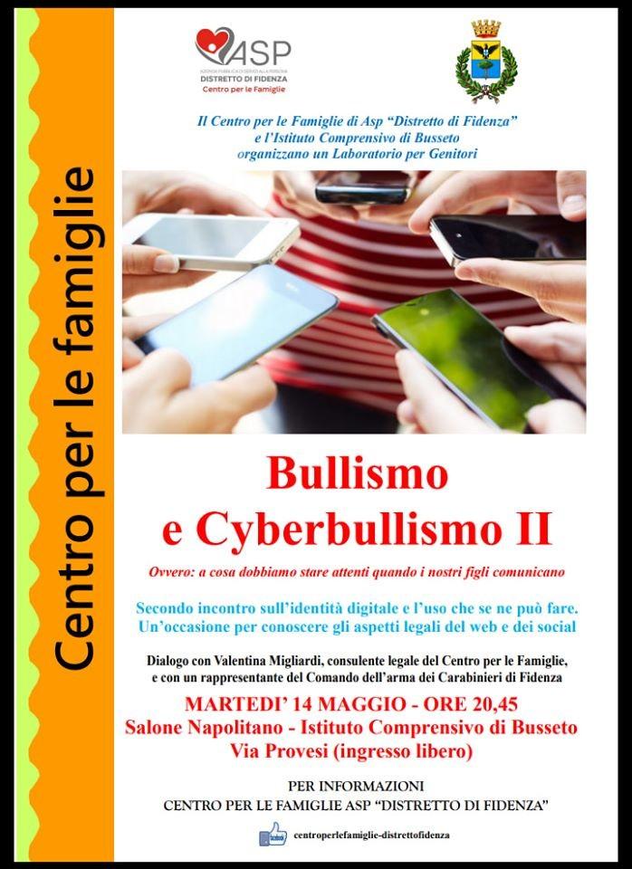 """Bullismo e Cyberbullismo"" incontro a Busseto"