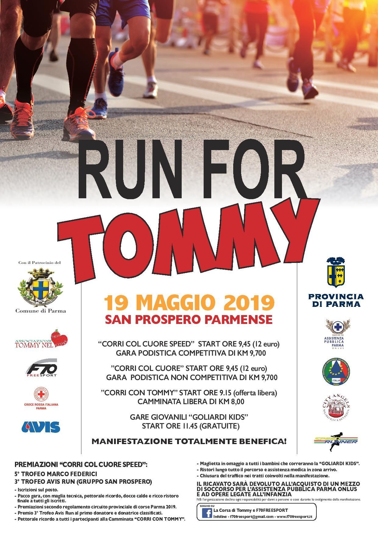"""""""La Corsa di Tommy"""" evento benefico"""