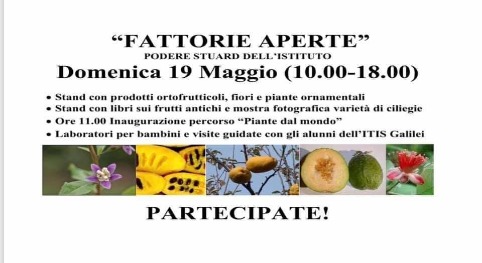 'Azienda agraria del Poloagroindustriale Galilei Bocchialini partecipa a Fattorie Aperte