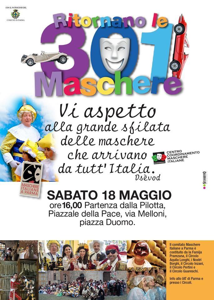 Maschere italiane a Parma