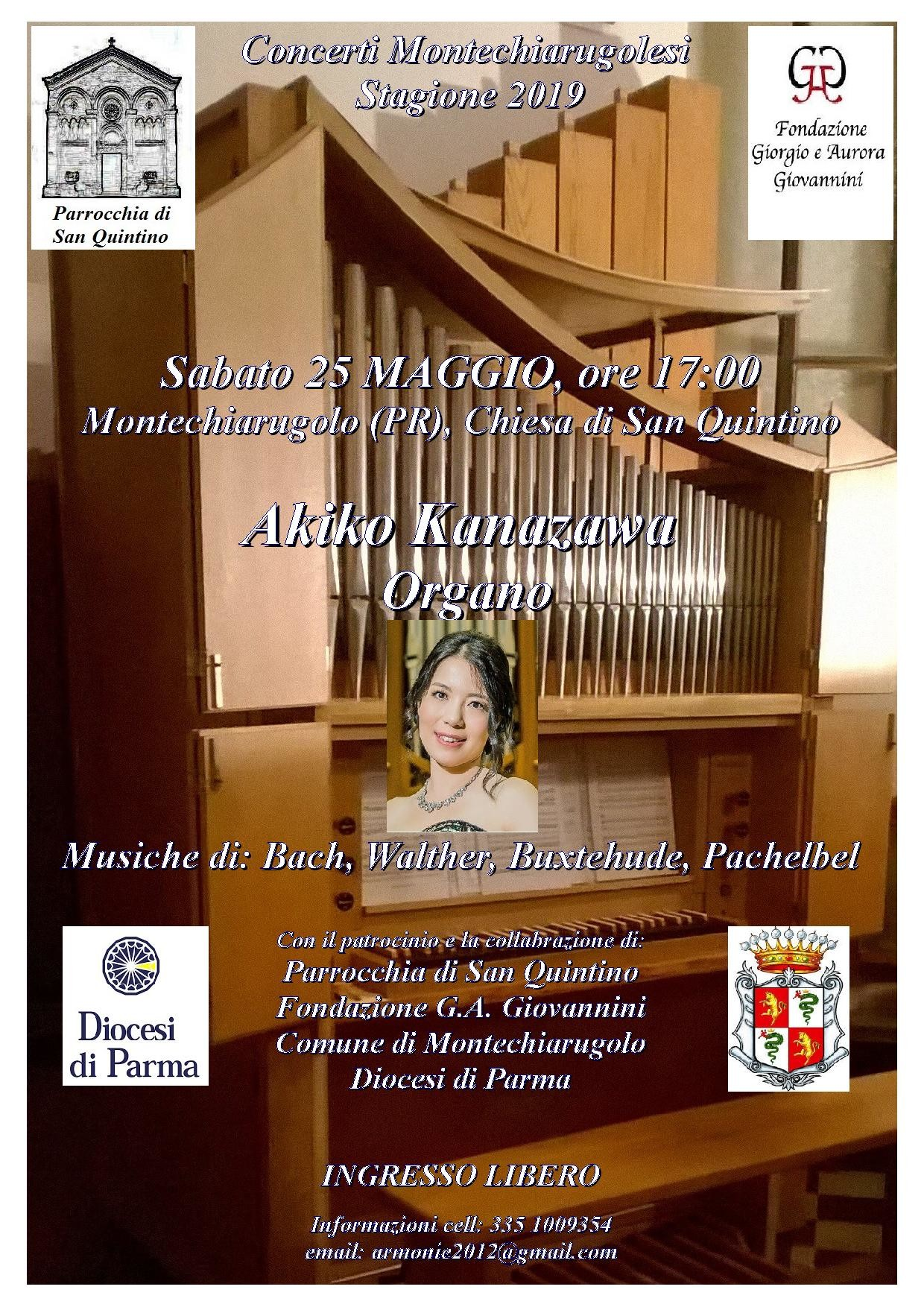 Concerto d'organo in chiesa a San Quintino di Montechiarugolo