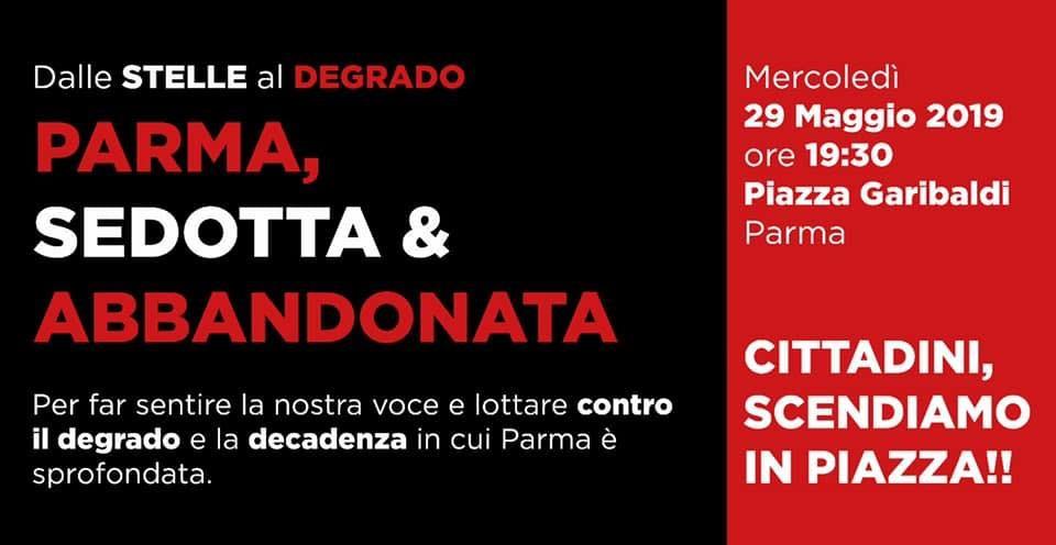 Parma sedotta e abbandonata, manifestazione contro il degrado