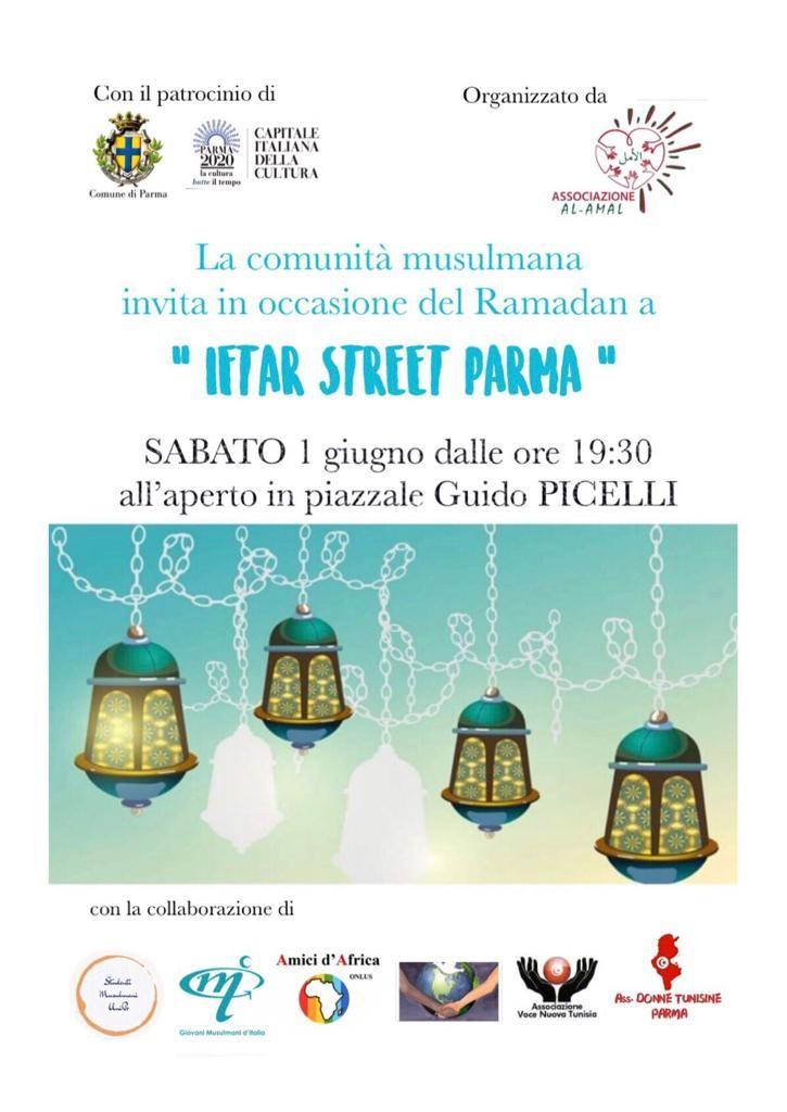 """""""Iftar street Parma"""", sabato 1 giugno dalle 19,30 in piazzale Picelli"""