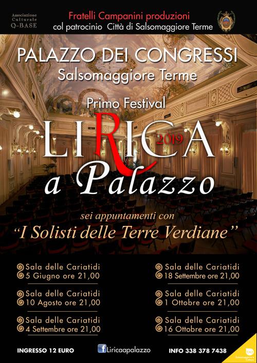 """Primo Festival """"Lirica a Palazzo 2019"""""""