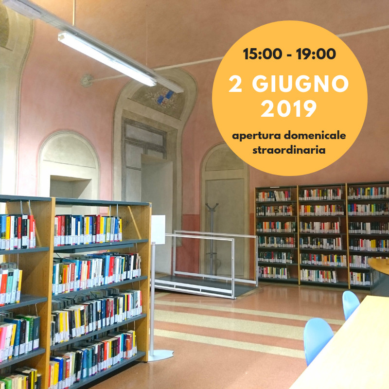 APERTURAdomenicale straordinaria Biblioteche Guanda e Internazionale Ilaria Alpi
