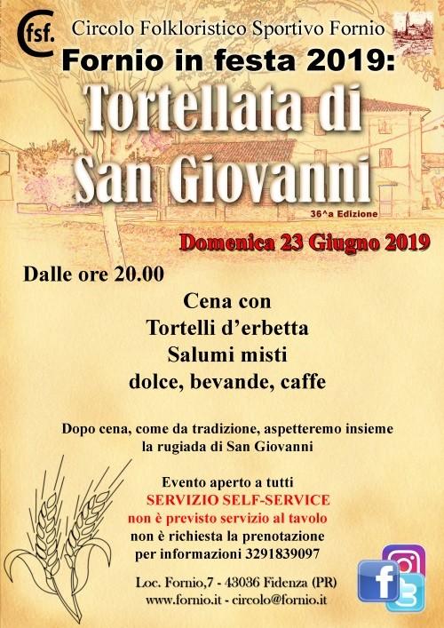 Fornio in festa 2019: Tortellata di San Giovanni
