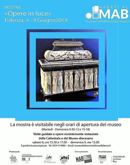 """""""Opere in luce"""" mostra e visite al Museo del Duomo di Fidenza"""