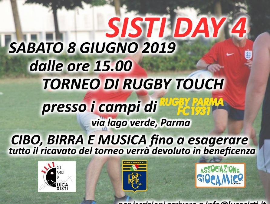 Sabato pomeriggio l'Amatori Parma in campo al Sisti Day