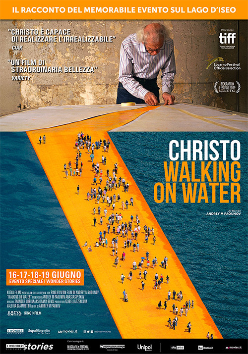 CHRISTO-WALKING ON WATER al Cinema D'Azeglio