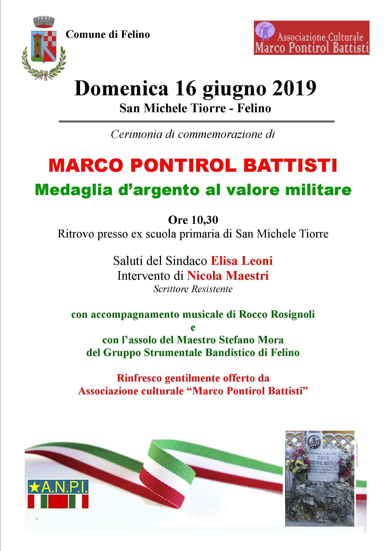 Commemorazione di Marco Pontirol Battisti  a San Michele Tiorre