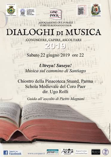Dialoghi di musica col Coro Paer: Ultreya! Suseya! Musica sul cammino di Santiago