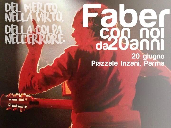 Tributo a Fabrizio De André  in piazzale Inzani