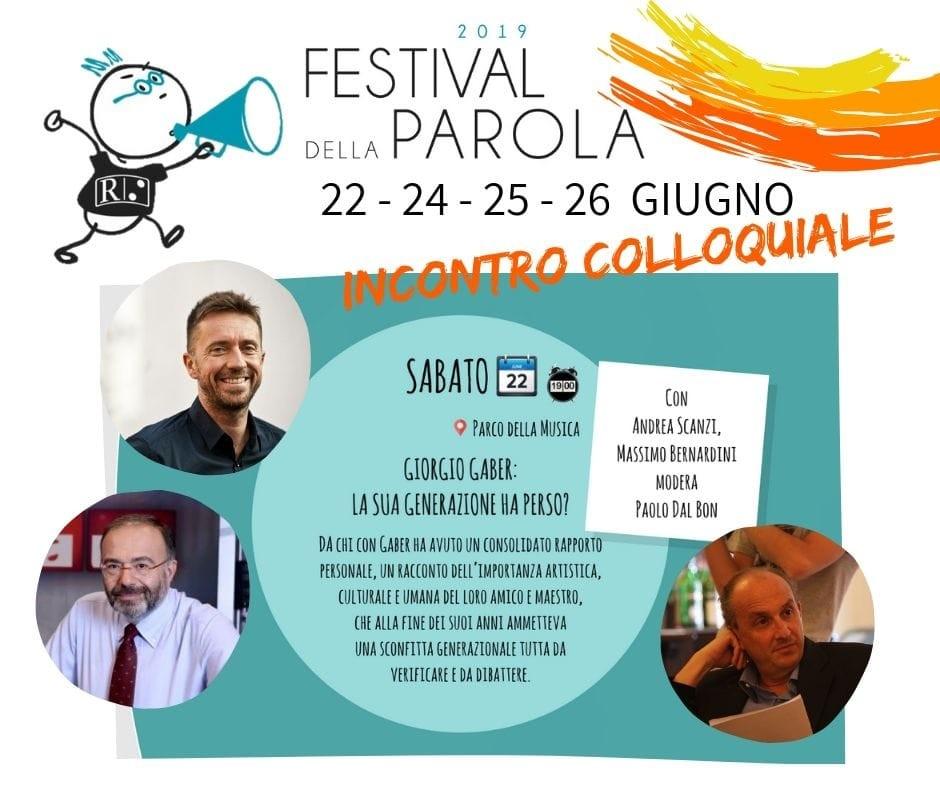 Festival della parola: Giorgio Gaber: la sua generazione ha perso?